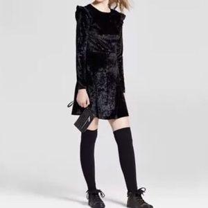 Mossimo Supply Co Long Sleeve Crushed Velvet Dress